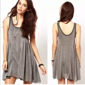 Free People FP Beach Dress Town Glitter Babydoll